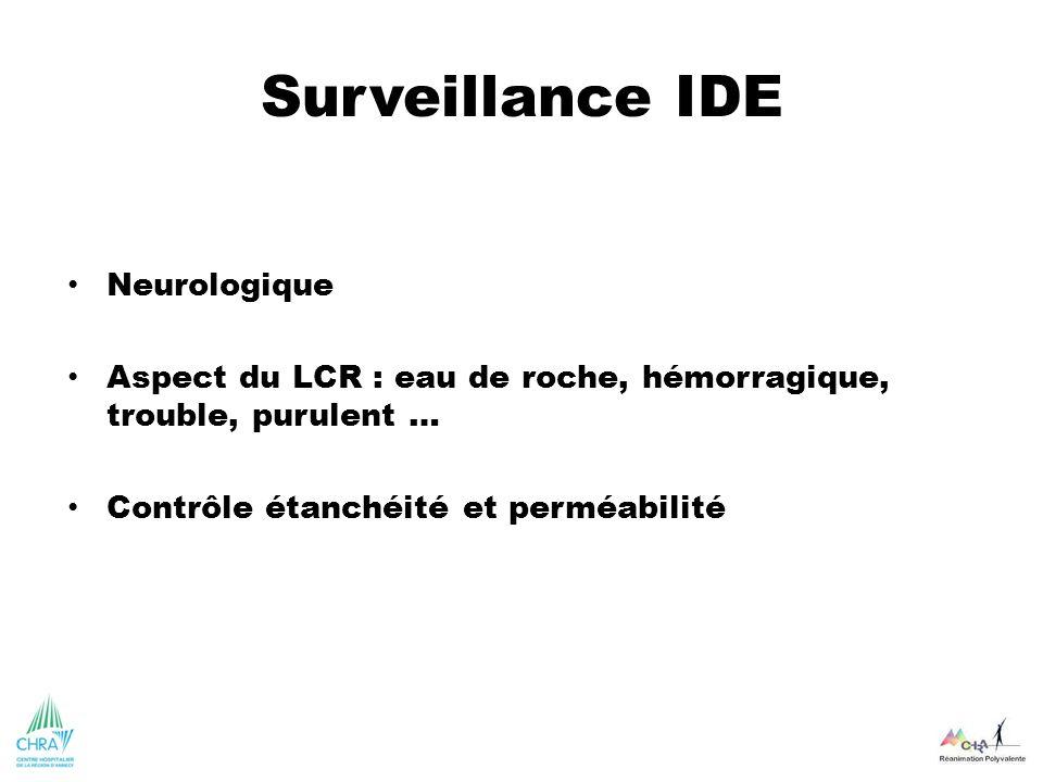 Surveillance IDE Neurologique