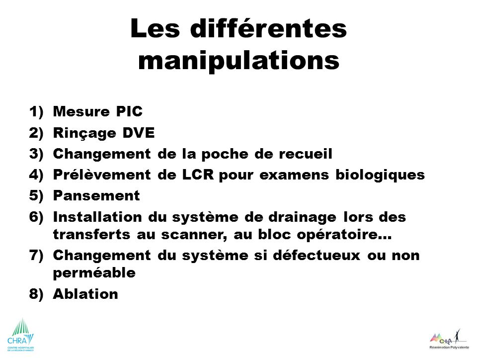 Les différentes manipulations