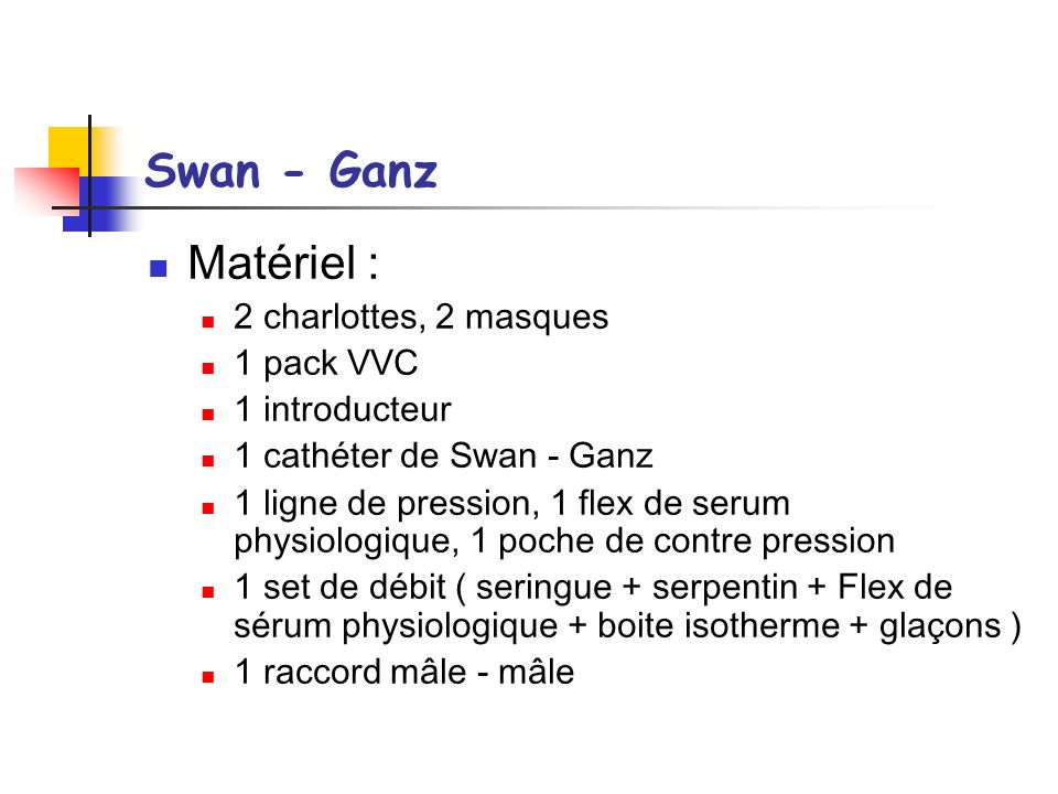 Swan - Ganz Matériel : 2 charlottes, 2 masques 1 pack VVC
