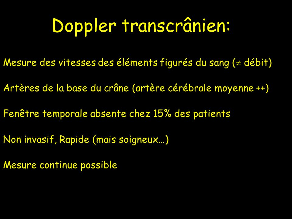 Doppler transcrânien: