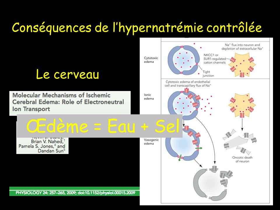 Conséquences de l'hypernatrémie contrôlée