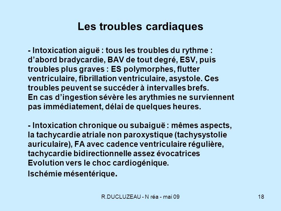 Les troubles cardiaques