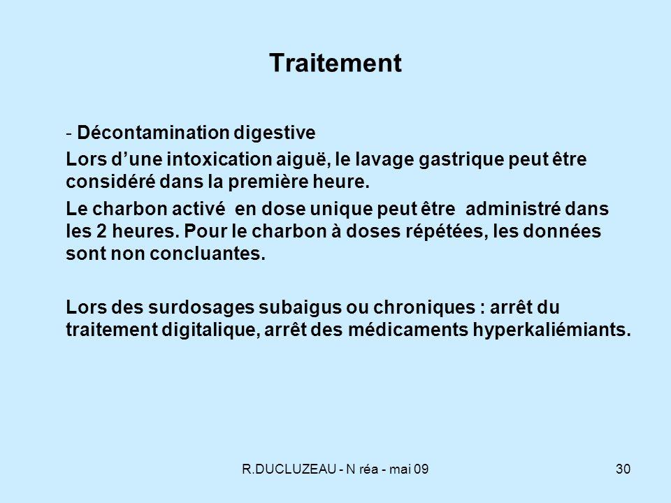 Traitement - Décontamination digestive
