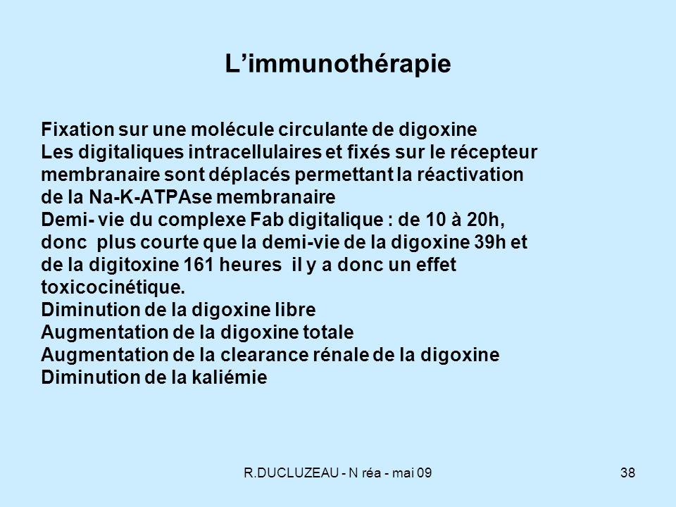 L'immunothérapie Fixation sur une molécule circulante de digoxine