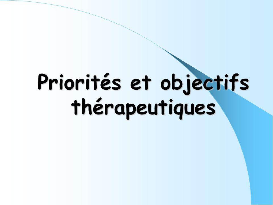 Priorités et objectifs thérapeutiques