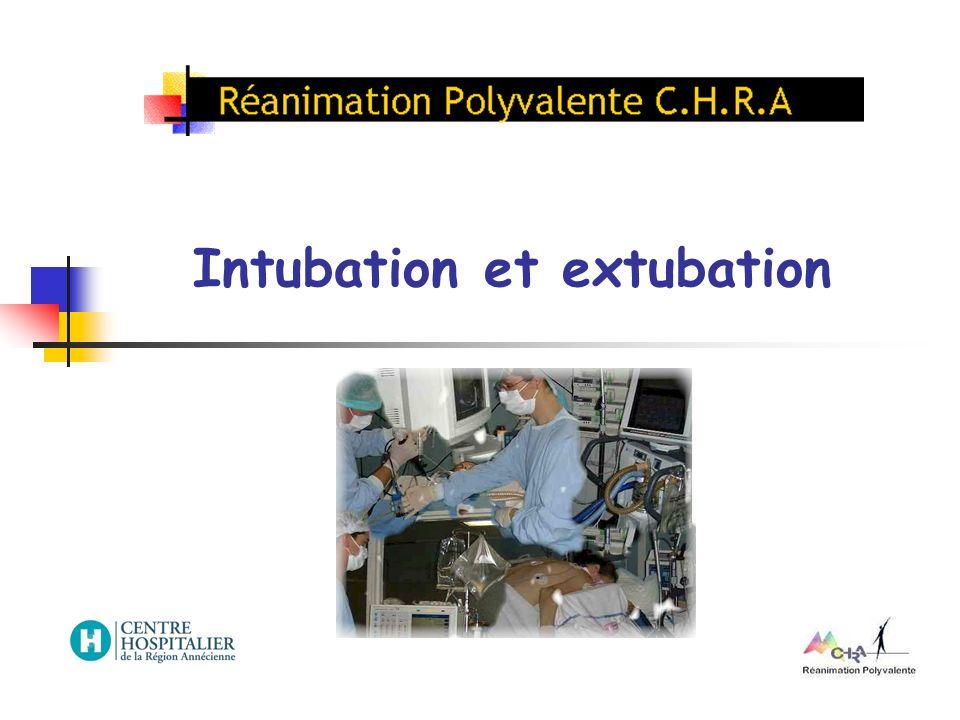 Intubation et extubation