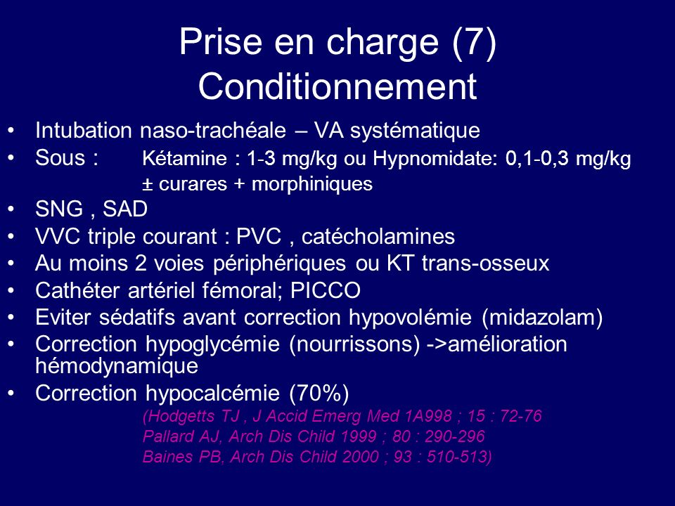 Prise en charge (7) Conditionnement