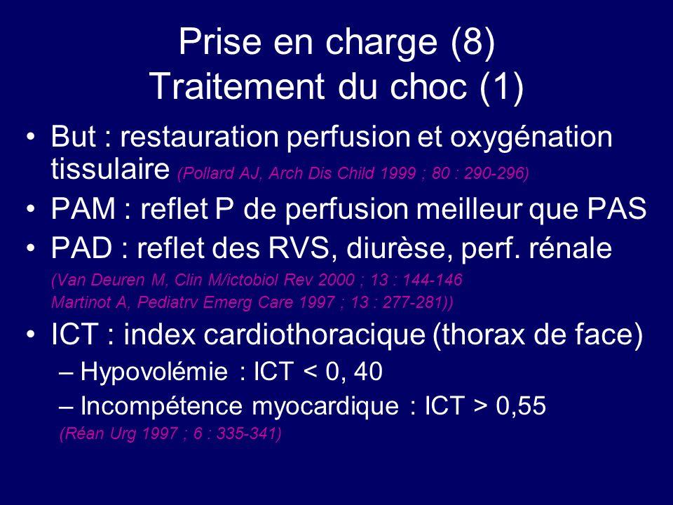 Prise en charge (8) Traitement du choc (1)