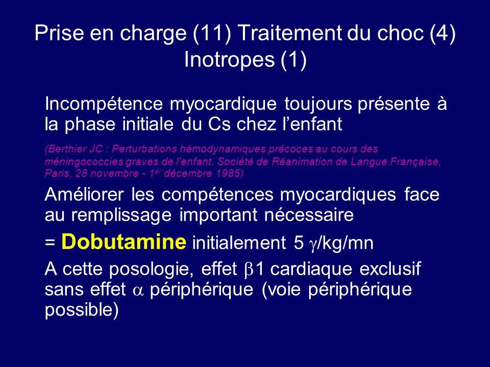 Prise en charge (11) Traitement du choc (4) Inotropes (1)