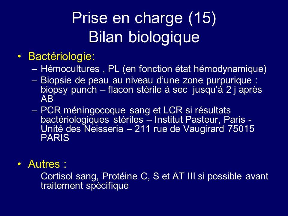 Prise en charge (15) Bilan biologique
