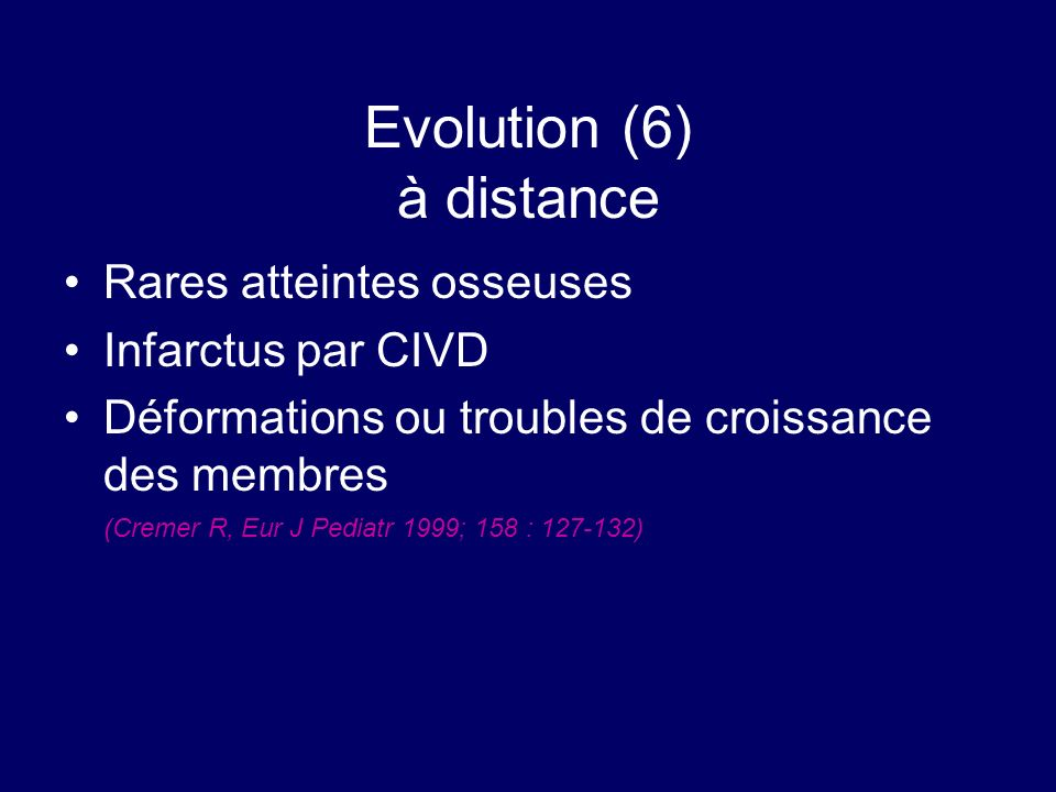Evolution (6) à distance
