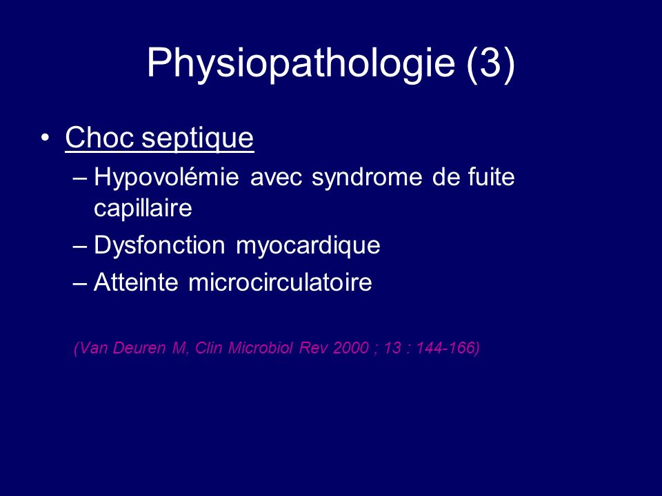 Physiopathologie (3) Choc septique
