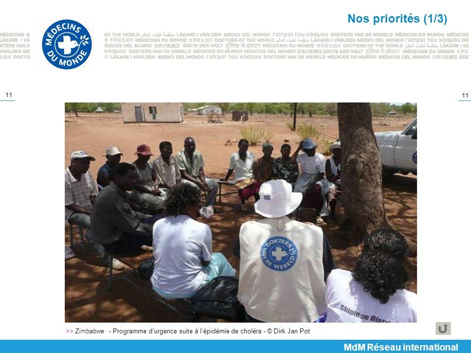 Nos priorités (1/3) MdM Réseau international