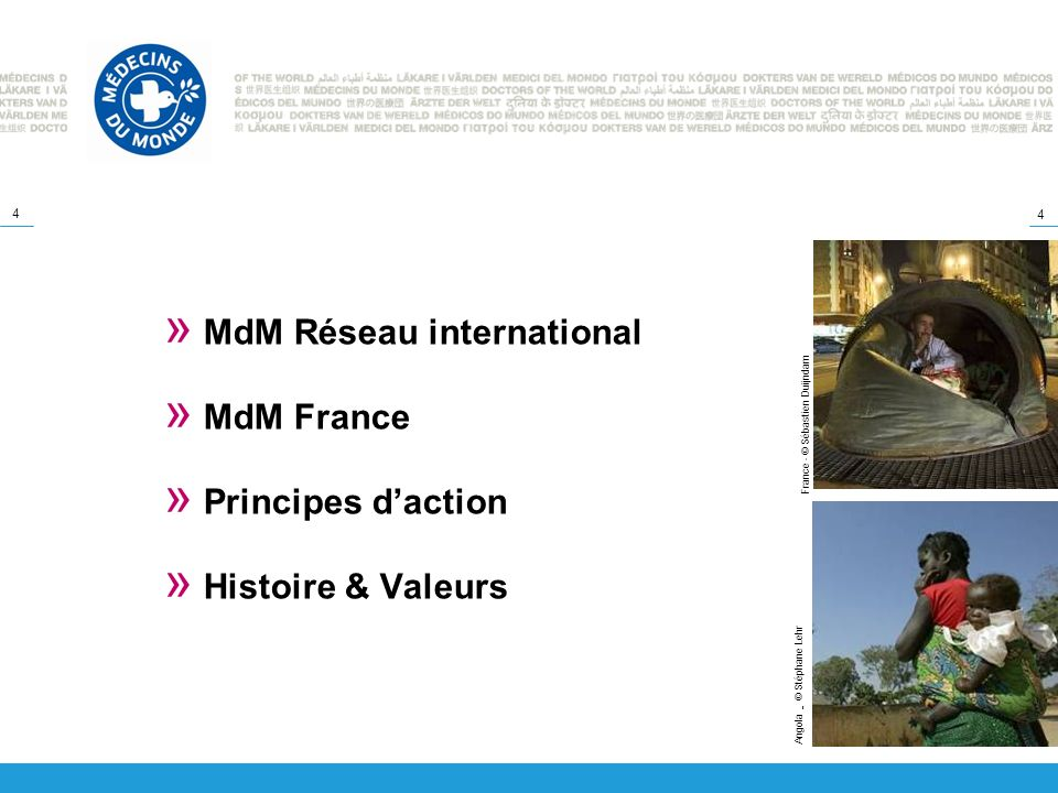 MdM Réseau international MdM France Principes d'action