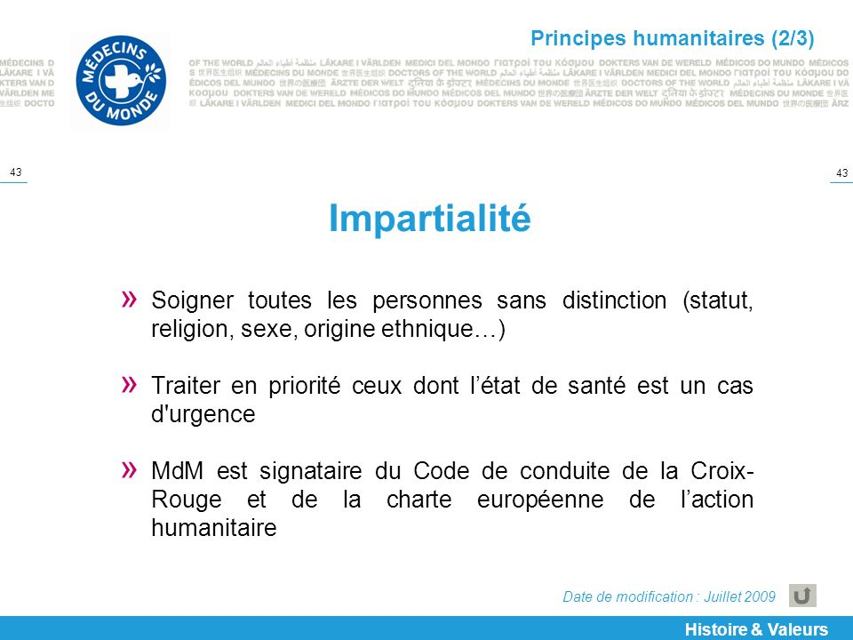 Principes humanitaires (2/3)