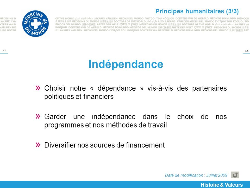 Principes humanitaires (3/3)
