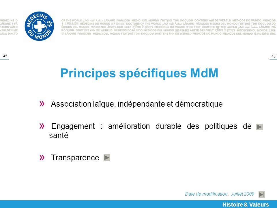 Principes spécifiques MdM