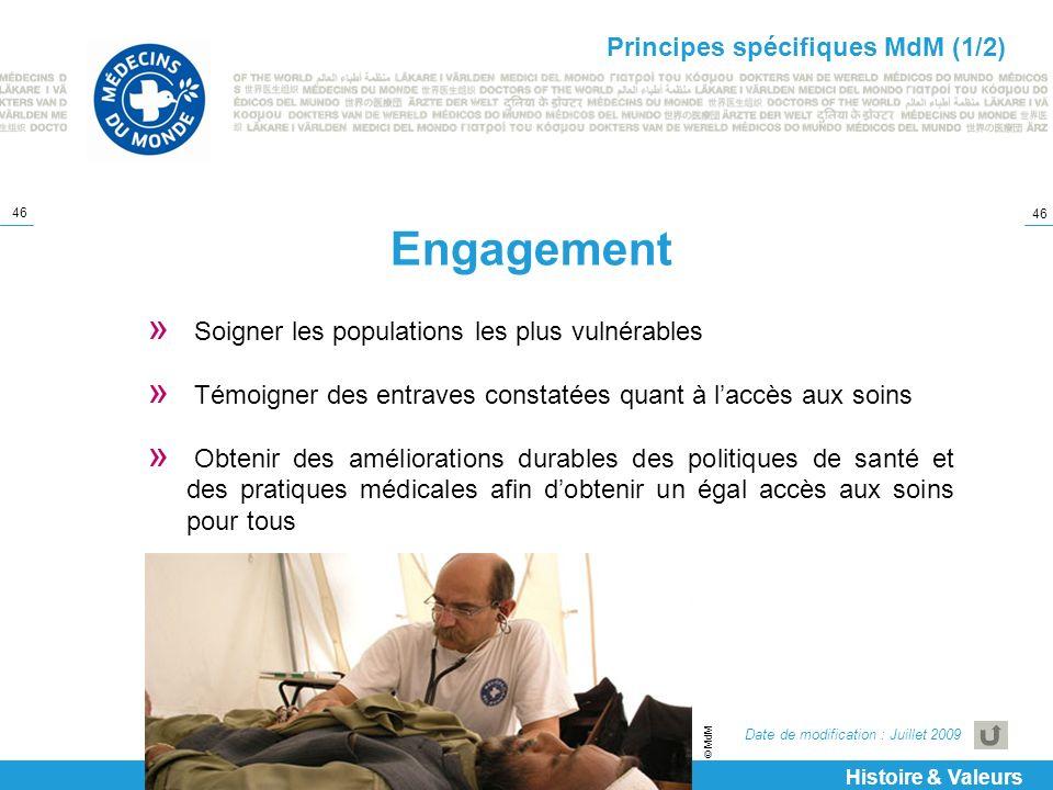 Engagement Principes spécifiques MdM (1/2)