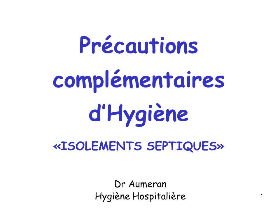 Dr Aumeran Hygiène Hospitalière