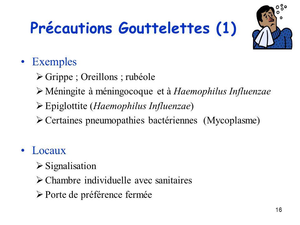 Précautions Gouttelettes (1)