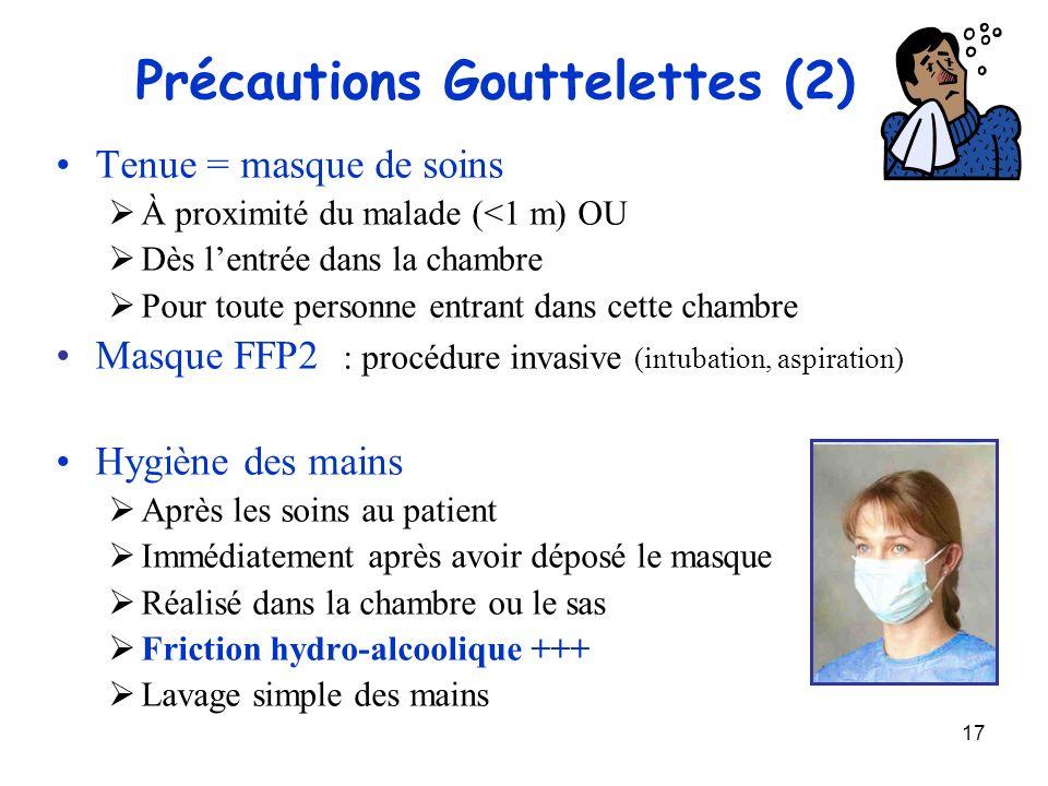 Précautions Gouttelettes (2)