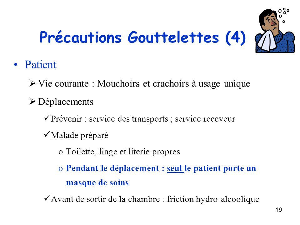 Précautions Gouttelettes (4)