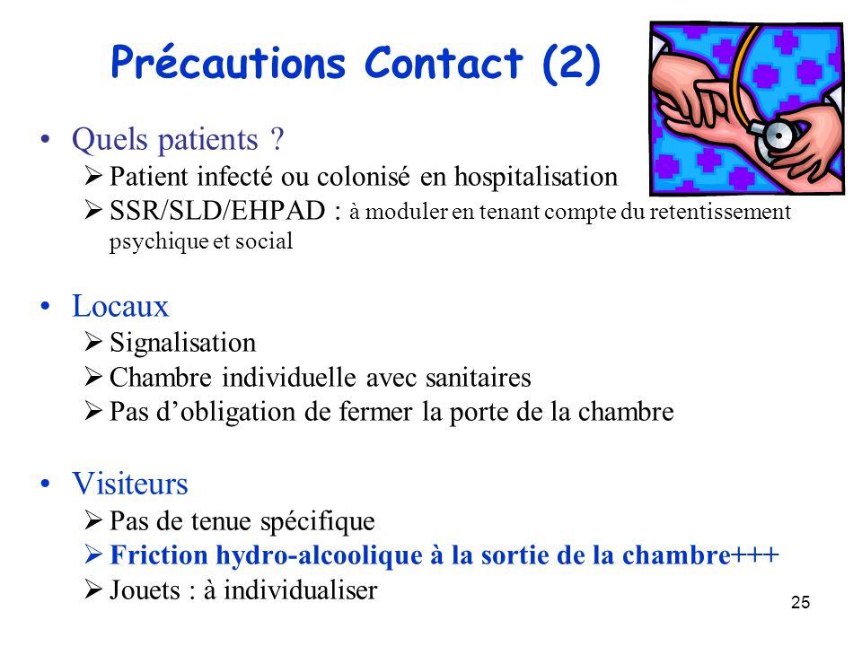 Précautions Contact (2)