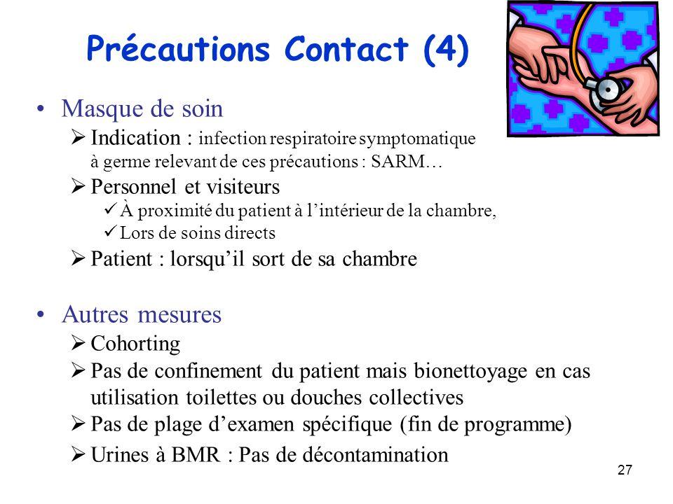 Précautions Contact (4)