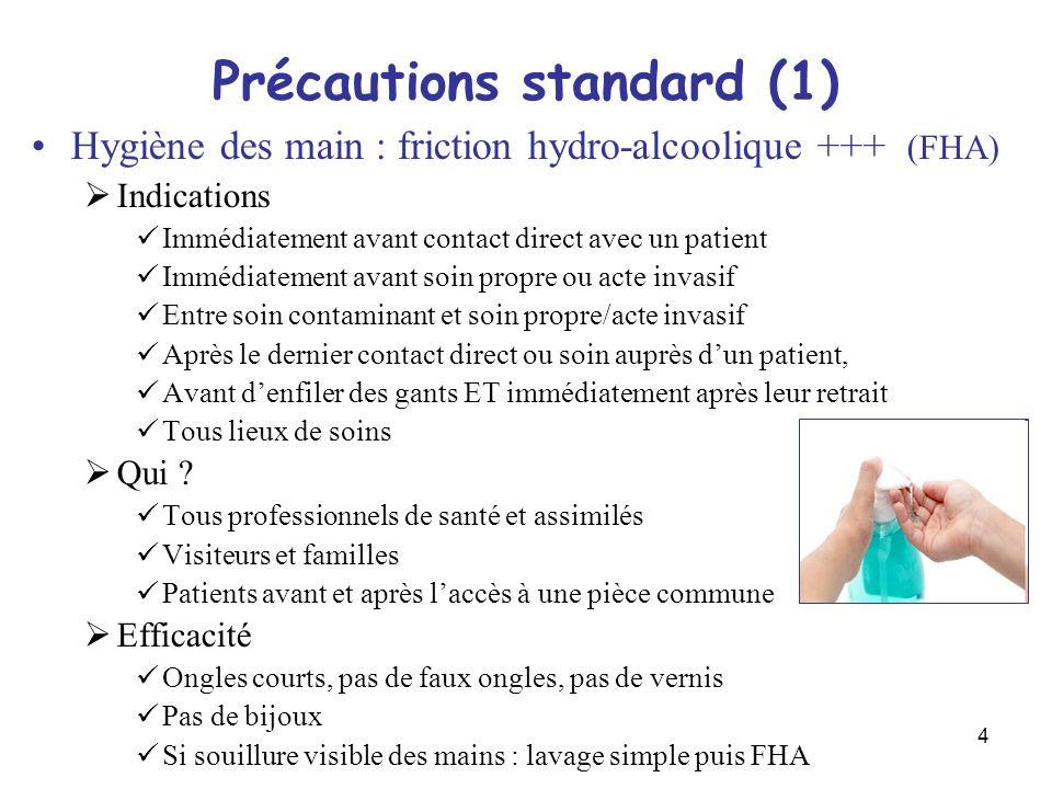 Précautions standard (1)