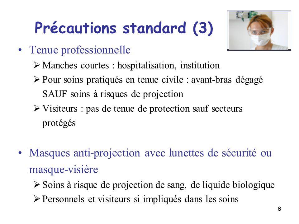 Précautions standard (3)