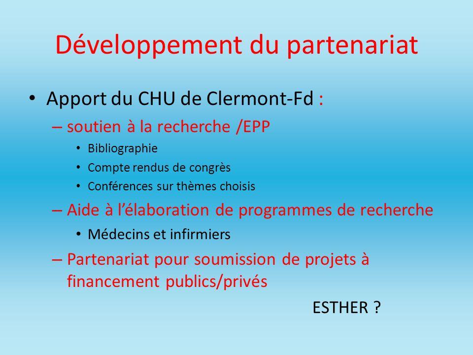 Développement du partenariat