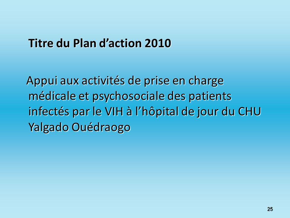 Titre du Plan d'action 2010
