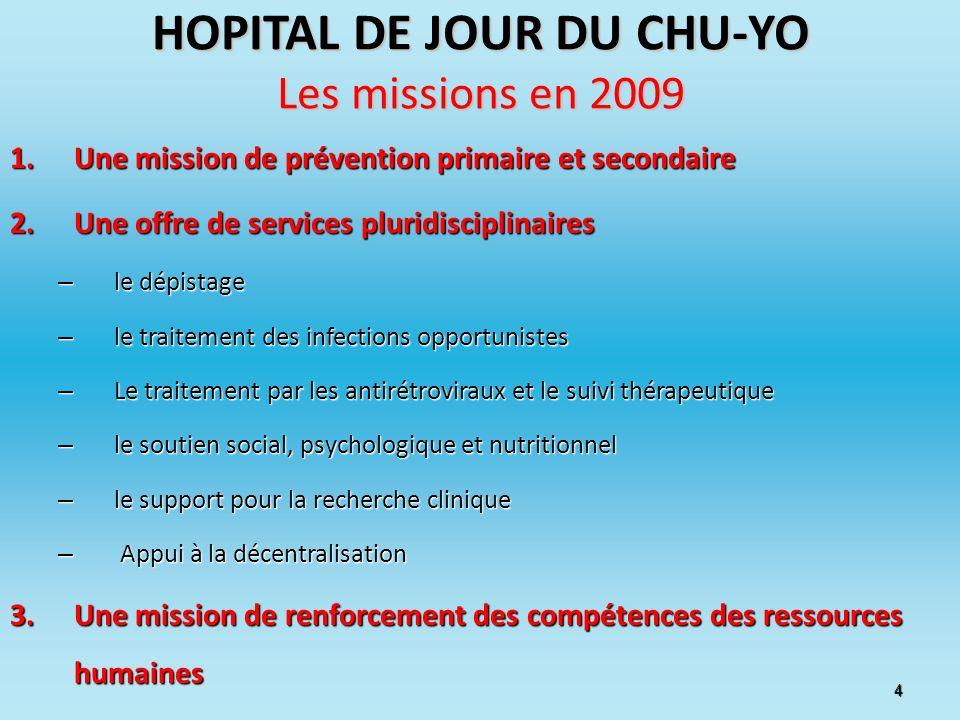 HOPITAL DE JOUR DU CHU-YO Les missions en 2009