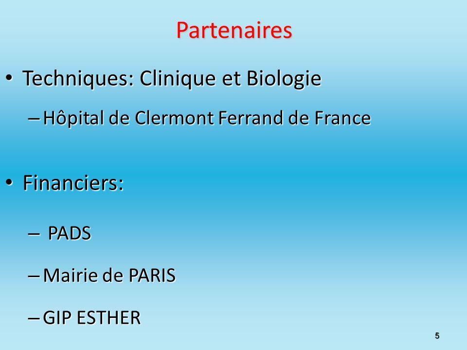 Partenaires Techniques: Clinique et Biologie Financiers: