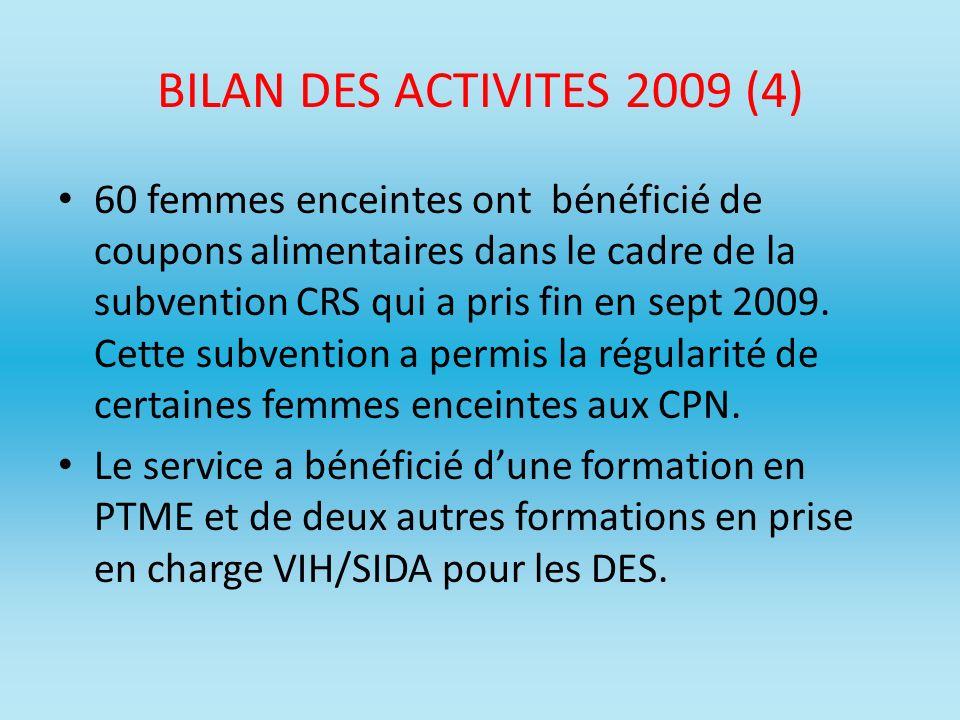 BILAN DES ACTIVITES 2009 (4)