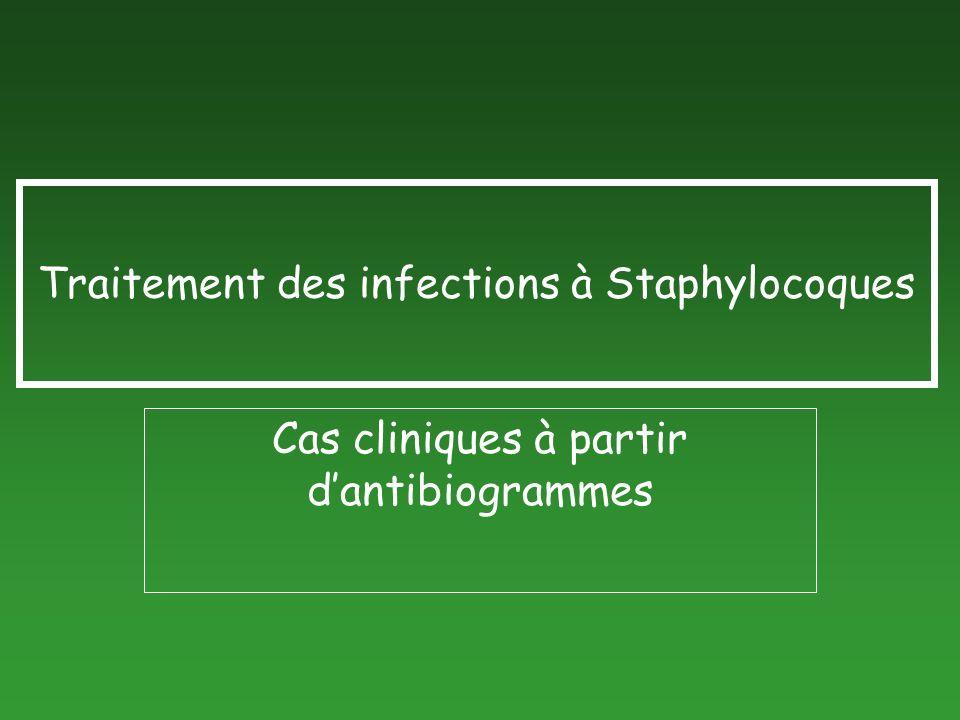 Traitement des infections à Staphylocoques