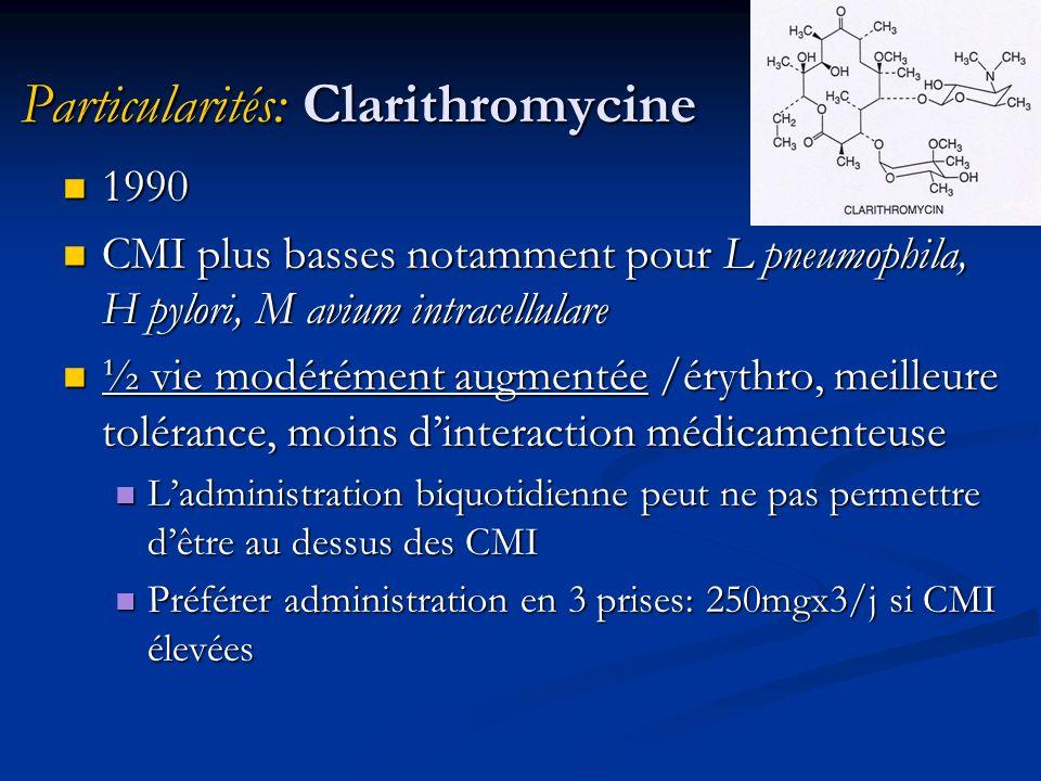 Particularités: Clarithromycine