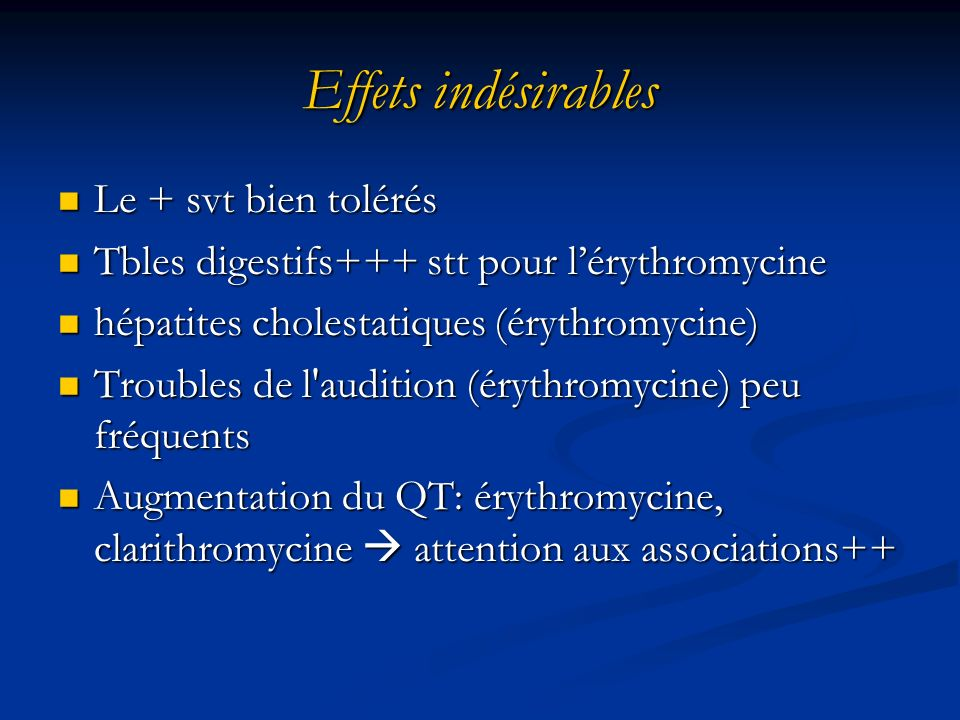 Quelle place pour les macrolides en 2011 ? - ppt video