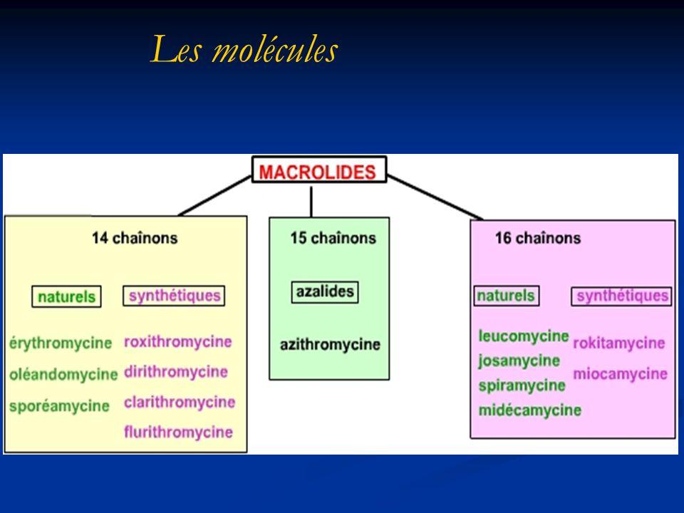 Les molécules De nombreux représentants selon le nombre de chaînons de la structure, Avec des naturels et des synthétiques,