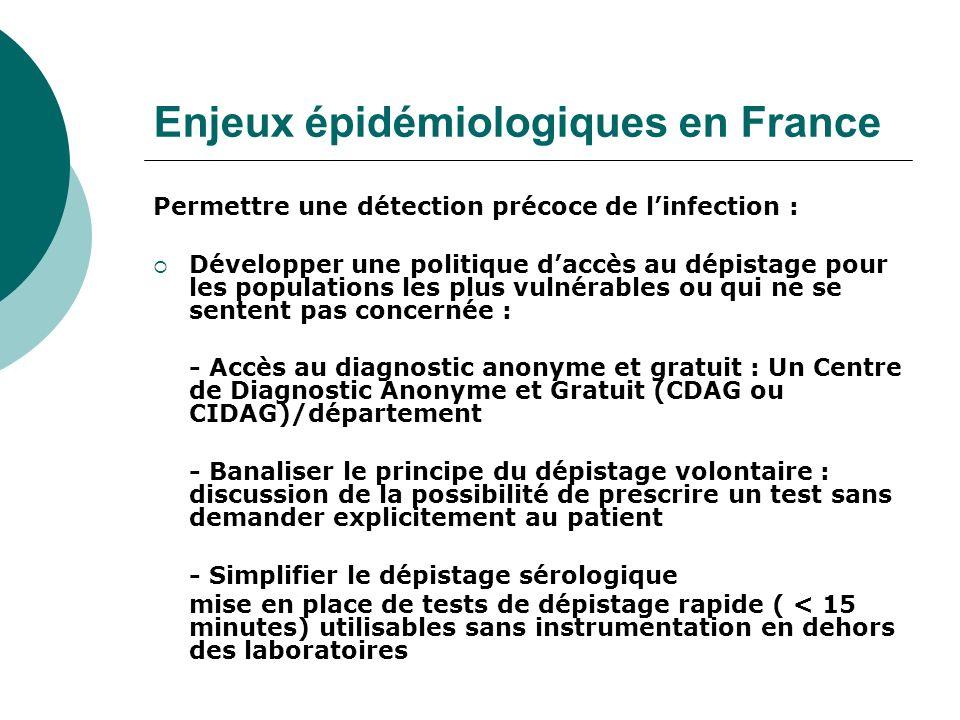 Enjeux épidémiologiques en France