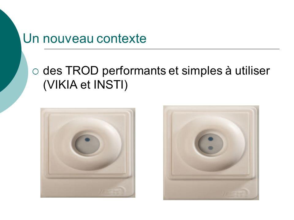 Un nouveau contexte des TROD performants et simples à utiliser (VIKIA et INSTI)