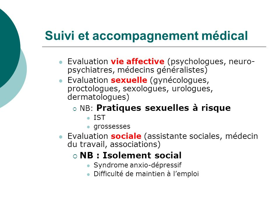 Suivi et accompagnement médical