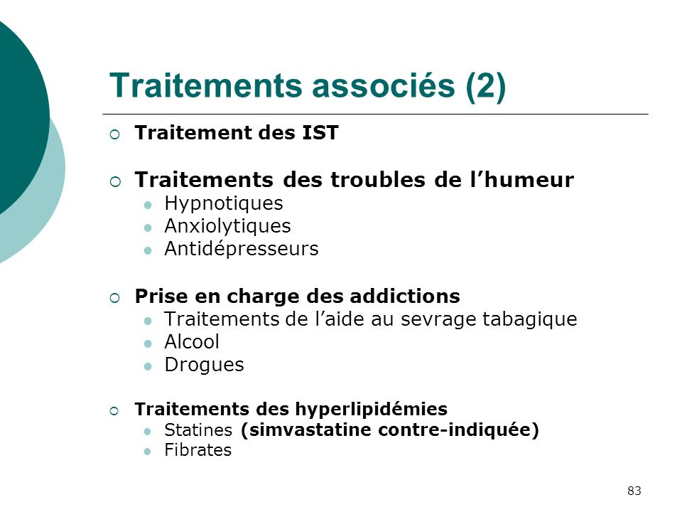 Traitements associés (2)
