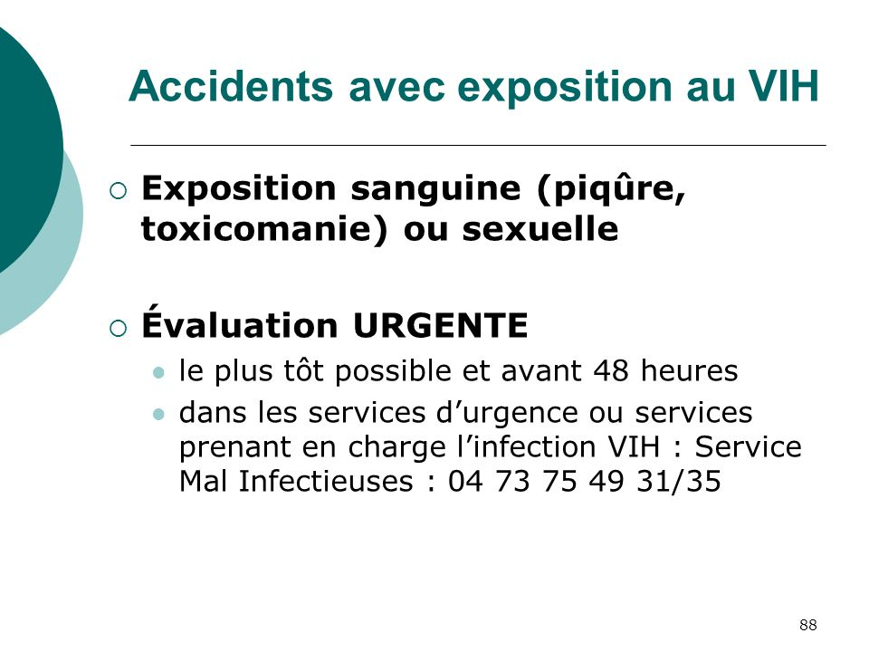 Accidents avec exposition au VIH