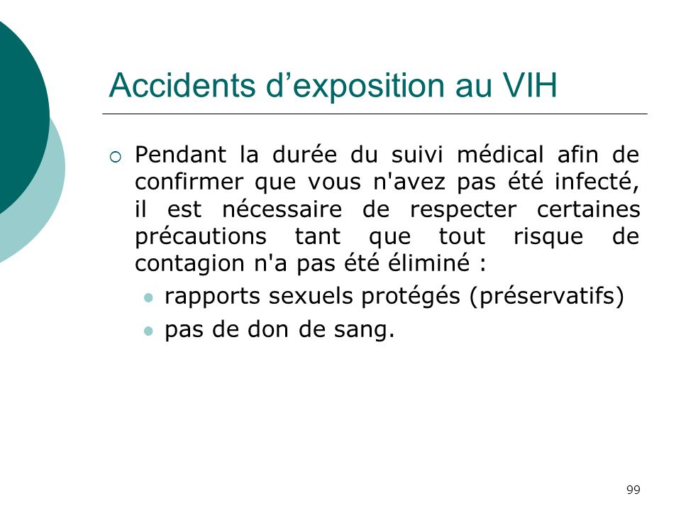 Accidents d'exposition au VIH