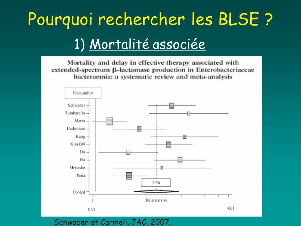 Pourquoi rechercher les BLSE
