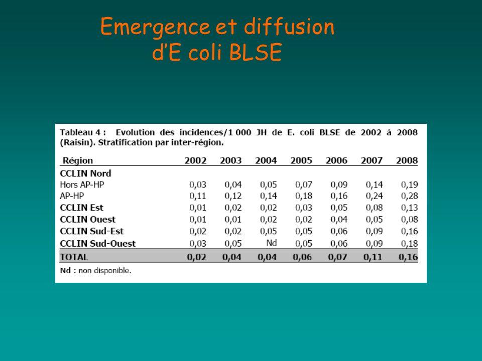 Emergence et diffusion d'E coli BLSE