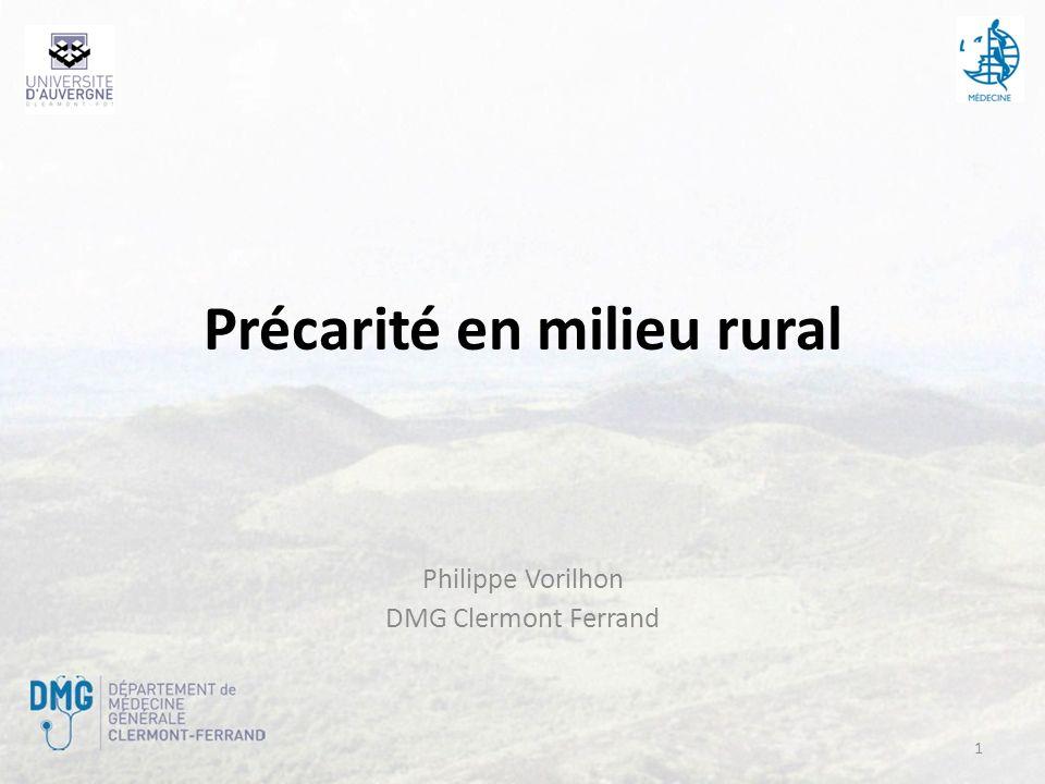 Précarité en milieu rural