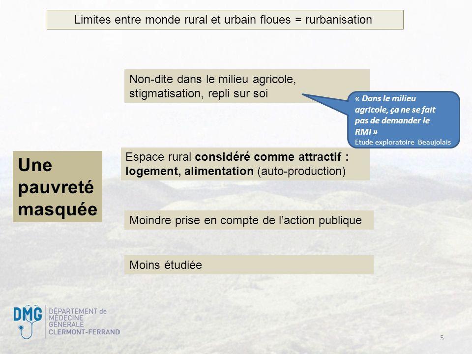 Limites entre monde rural et urbain floues = rurbanisation