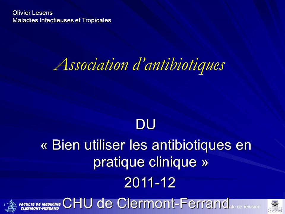 Association d'antibiotiques